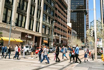 16th Street Mall Pedestrians