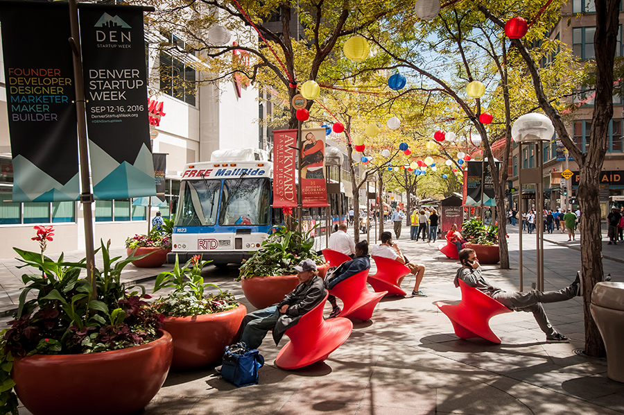 16th Street Mall Partners Recommend Design That Would Expand Sidewalks Improve Pedestrian Safety Downtown Denver Partnership