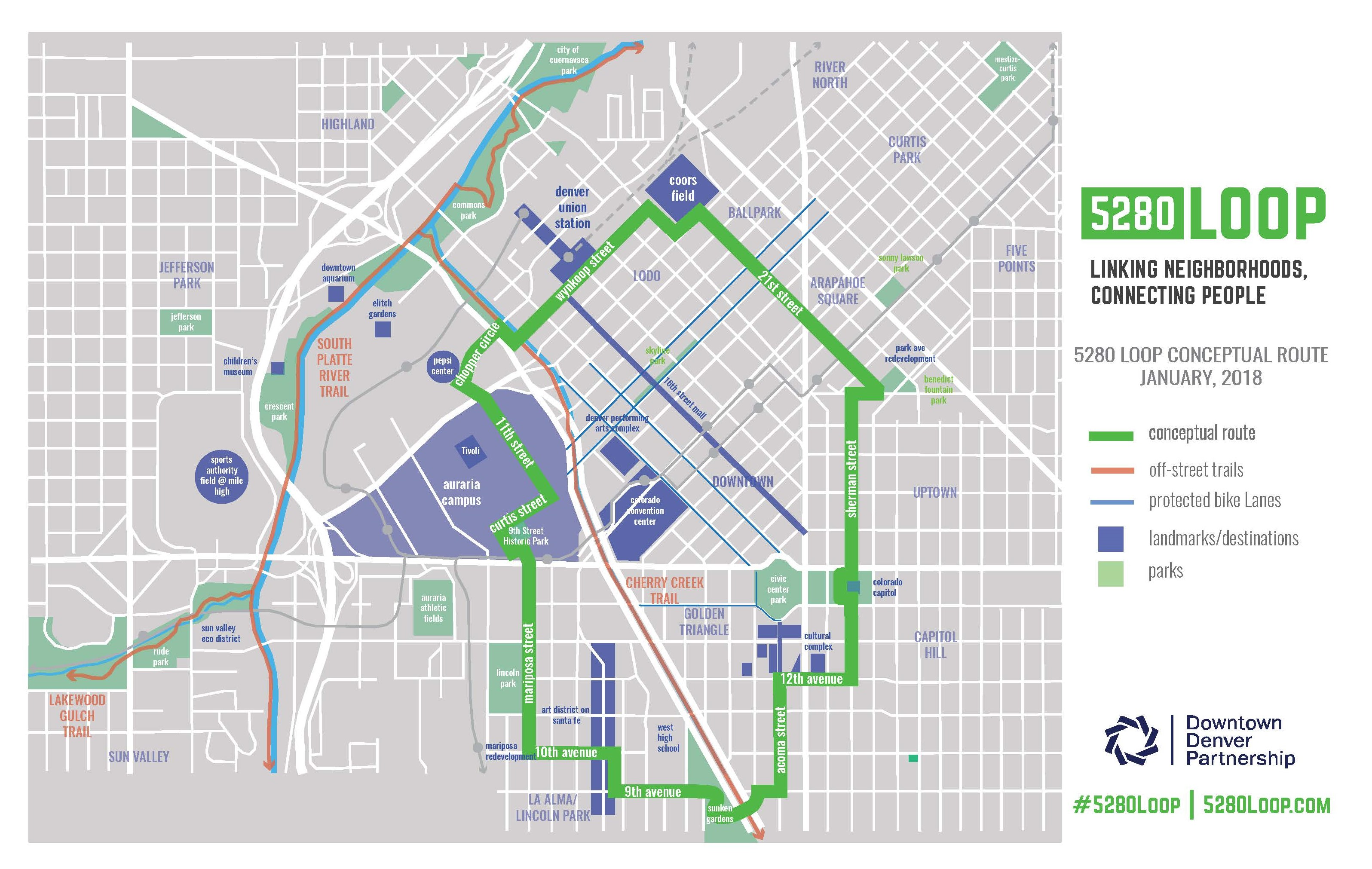 Explore The 5280 Loop – Downtown Denver Partnership on