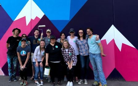 CityBuild Denver Mural Volunteer Downtown Pat Milberry So-Gnar Creative Downtown Denver Expeditionary School