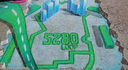 The 5280 Loop is an initiative of the Downtown Denver Partnership that will create a world-class urban trail and transform how the public right-of-way is used in Downtown Denver.