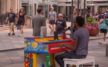 Downtown Denver 16th Street Mall Meet in the Street