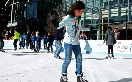 Free Ice Skating at the Downtown Denver Rink at Skyline Park